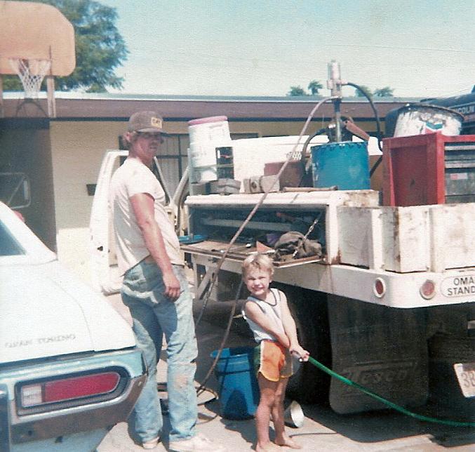 R 1980, Dad, Billy Horner, service truck