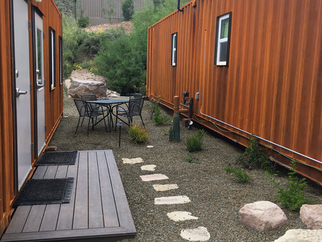 Shipping Container Employee Housing Completed at Castle Hot Springs