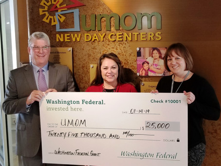 Washington Federal donates $25,000 to UMOM, $15,000 to Care Fund to Top Off Annual Giving