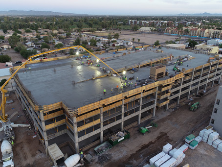 McCarthy Building Companies Tops Out New Parking Garage for the City of Chandler