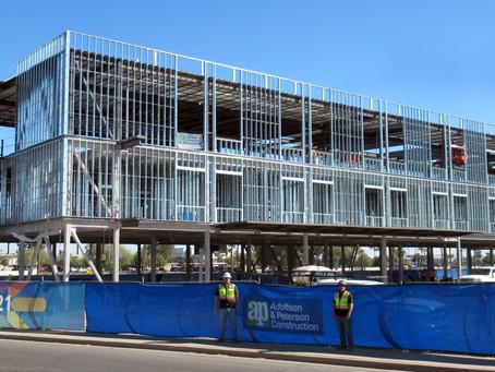 ADOLFSON & PETERSON CONSTRUCTION TOPS OUT REUNION REHABILITATION HOSPITAL PHOENIX