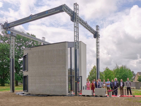 House Created in Belgium Using the Largest 3D Concrete Printer in Europe.
