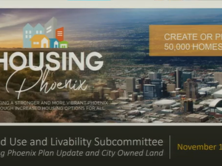 Phoenix Affordable Housing committee plans to build over 50,000 homes by 2030