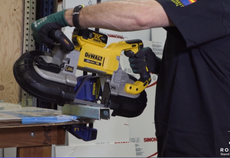 Rosendin Works With DEWALT to Create New Dual Switch Design of Portable Band Saw to Increase Worksit