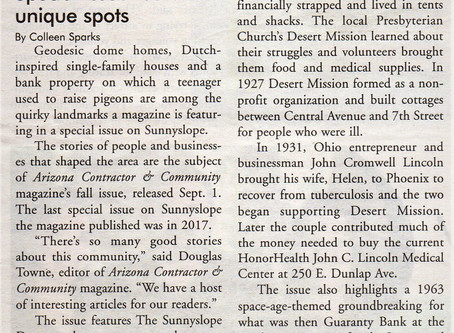 """North Central News Features Article on ACC """"Sunnyslope"""" Special Issue"""