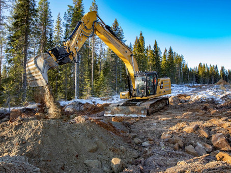 Engcon is an important part of the world's first Cat® 330 fitted with a dozer blade