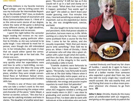 Christia Gibbons, ACC's ASU Cronkite School Liaison, Retires