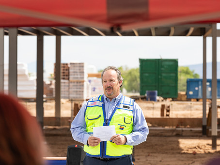 Willmeng/Fann joint venture celebrates topping out of new passenger terminal at Prescott Regional Ai