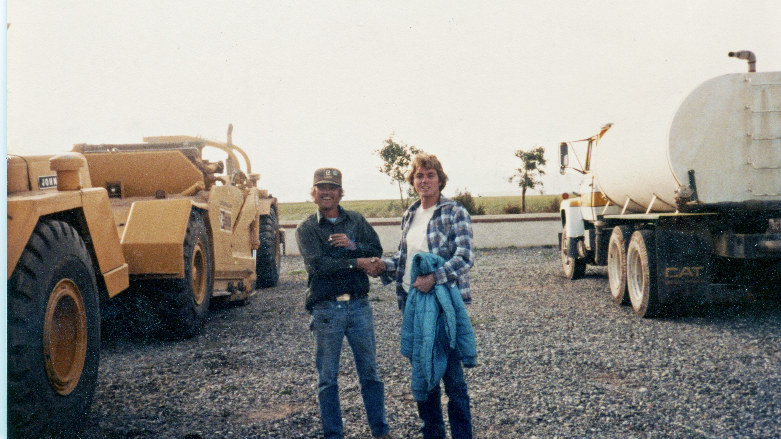 Dad and co worker, Arza, '85.