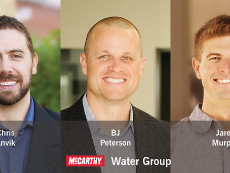 McCarthy's Water Group Announces Team Member Promotions as Group Expands into Key Regional Markets