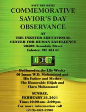 Commemorative Saviors Day Observance Ad