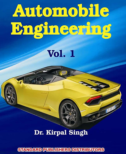 Automobile Engineering Vol. 1 (Chassis, Body) With Free Booklets)