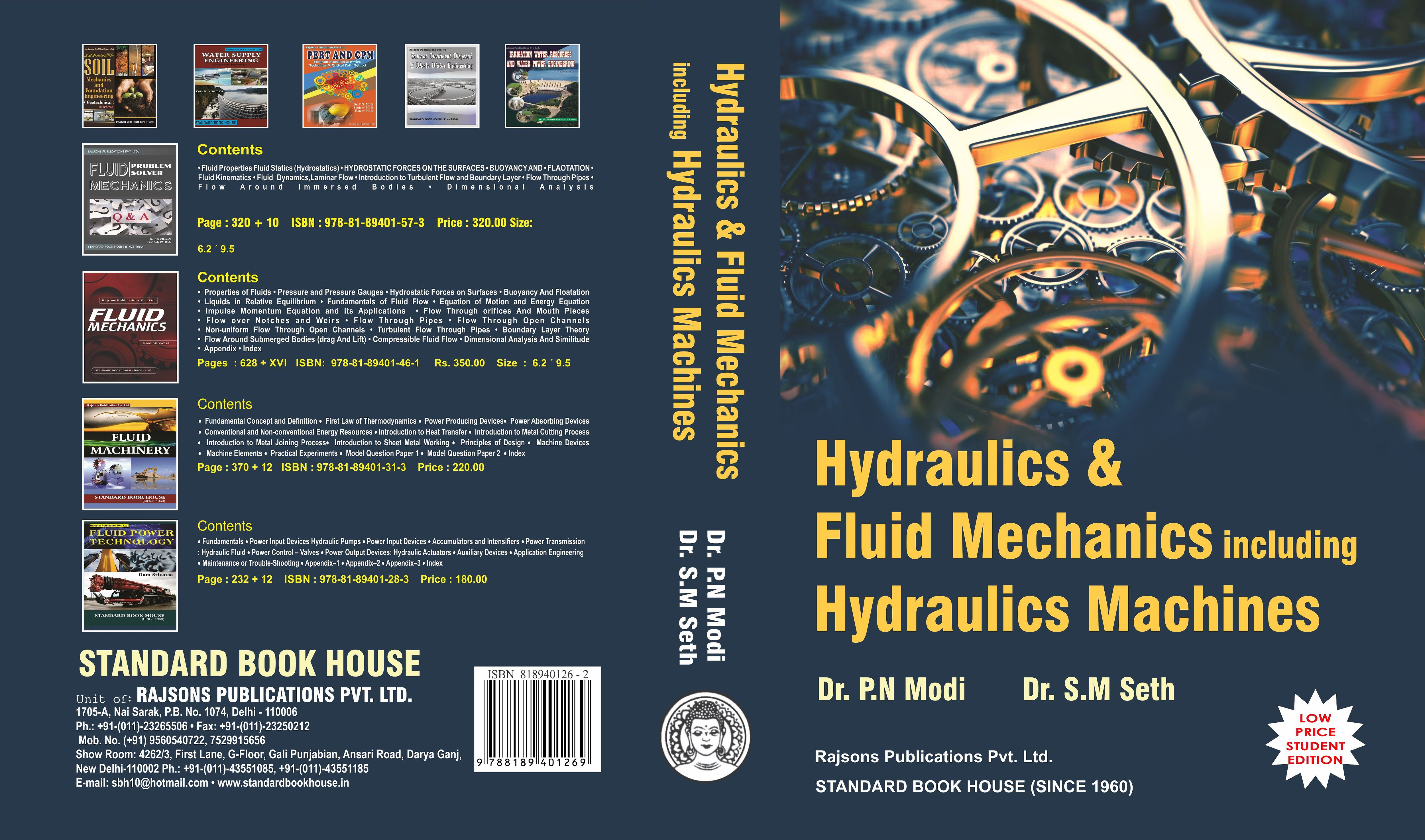 Hydraulics and Fluid Mechanics Including Hydraulics Machines | STANDARD  BOOK HOUSE
