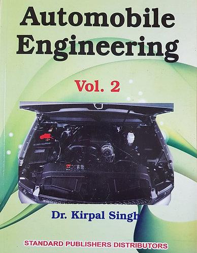 Automobile Engineering Vol II