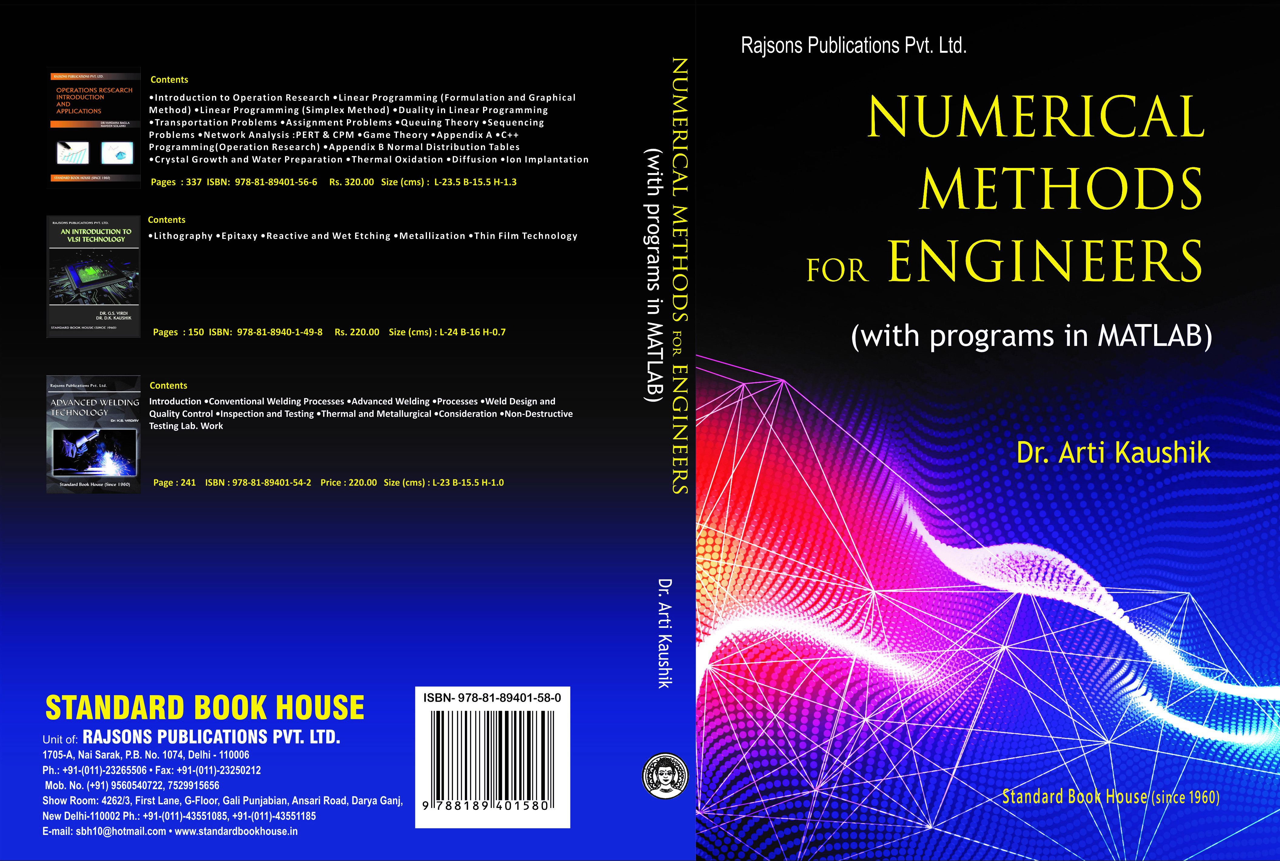 Numerical Methods For Engineers (with programs in MATLAB)