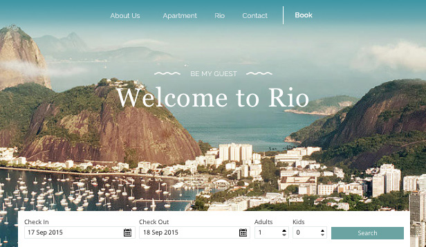 Apartments & Hostels website templates – Rio Apartment Rental