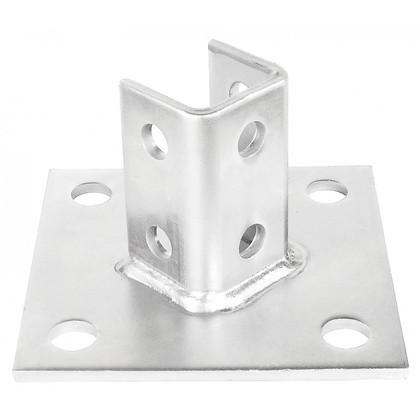 SINGLE CHANNEL BASE PLATE 4 HOLES - 45 DEG