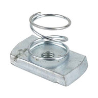 CHANNEL NUT WITH SHORT SPRING