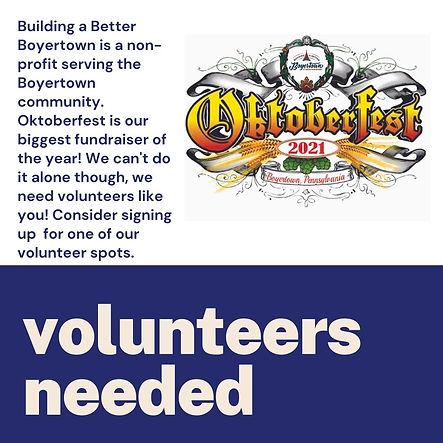 Building a Better Boyertown is a non profit serving the Boyertown community. Oktoberfest i
