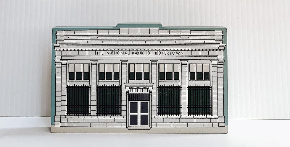 Miniature painted National Bank of Boyertown