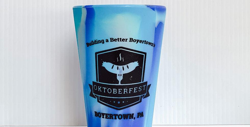 Oktoberfest- Blue Tie Dye Silicone Cup Tall
