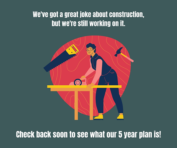 Blue and Red Construction Dad Joke Fathe