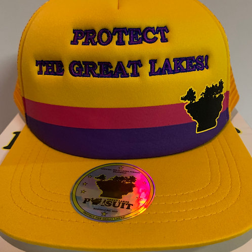 """Great Lakes Pursuit """"Protect The Great Lakes"""" Trucker Hat"""
