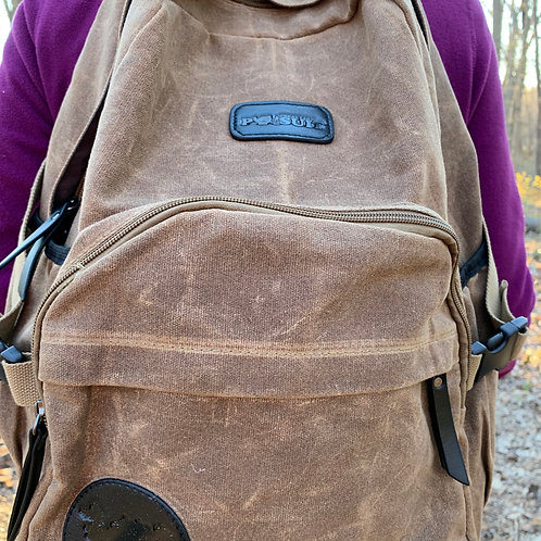 Great Lakes Pursuit Waxed Canvas Backpack- Coffee Edition