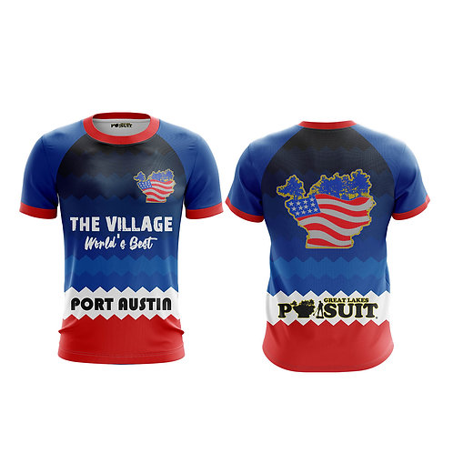 "Great Lakes Pursuit ""The Village"" Short Sleeve Athletic Shirt"