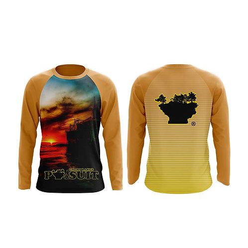Great Lakes Pursuit Port Austin Reef Lighthouse Long Sleeve Athletic Shirt