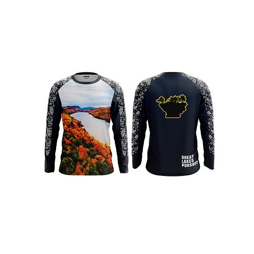 Great Lakes Pursuit Porcupine Mountains Long Sleeve Athletic Shirt