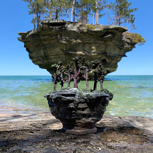 Turnip Rock Replica Model