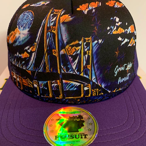 Great Lakes Pursuit Goodnite, Midnight Mackinaw Purple Trucker Hat