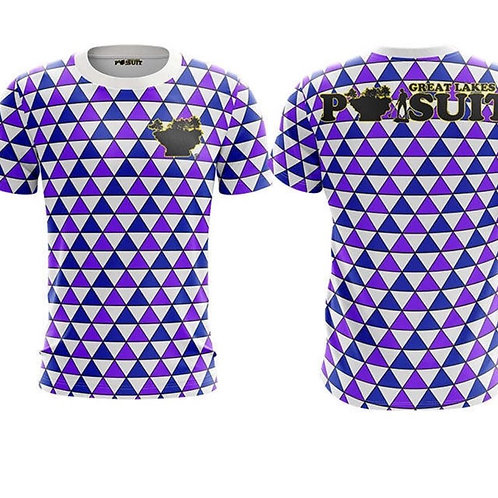 Great Lakes Pursuit Triangles Short Sleeve Athletic Shirt
