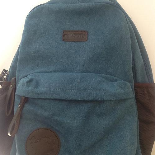 Great Lakes Pursuit Retro Canvas Backpack- Blue