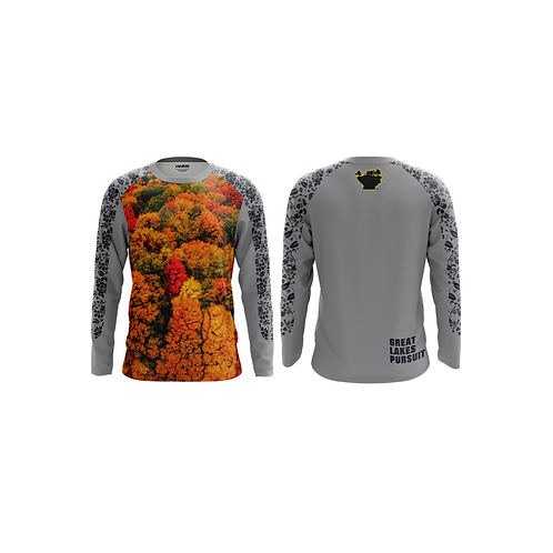 """Great Lakes Pursuit """"Fall Colors"""" Long Sleeve Athletic Shirt"""