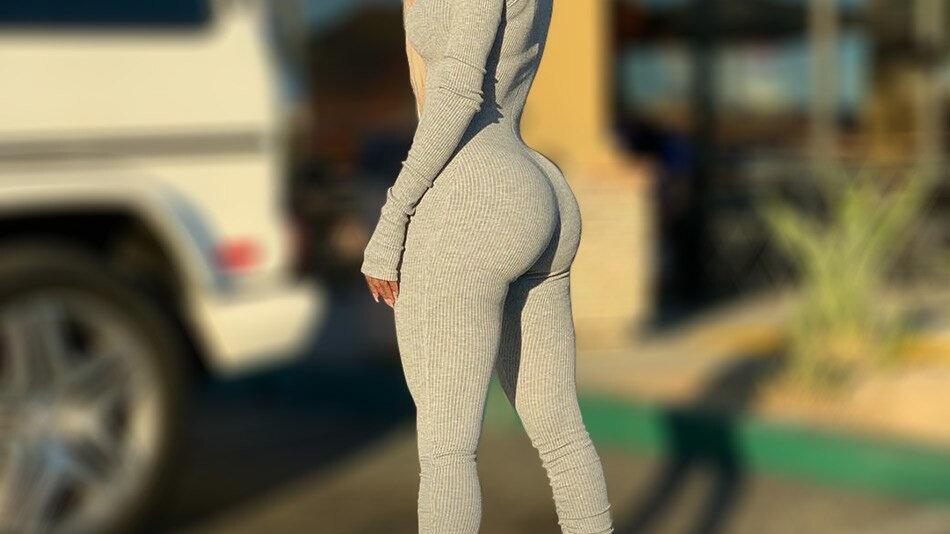 TwiggyBean Extra Long Sleeves & Long Leg Jumpsuit