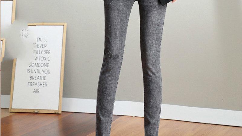 Ultra Gray Skinny Pencil Pants
