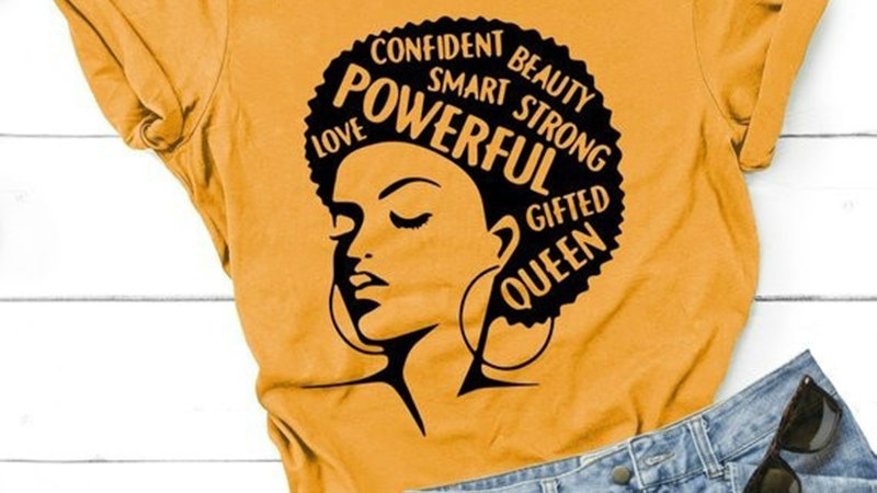 2020  O Neck Powerful  Lady T Shirt