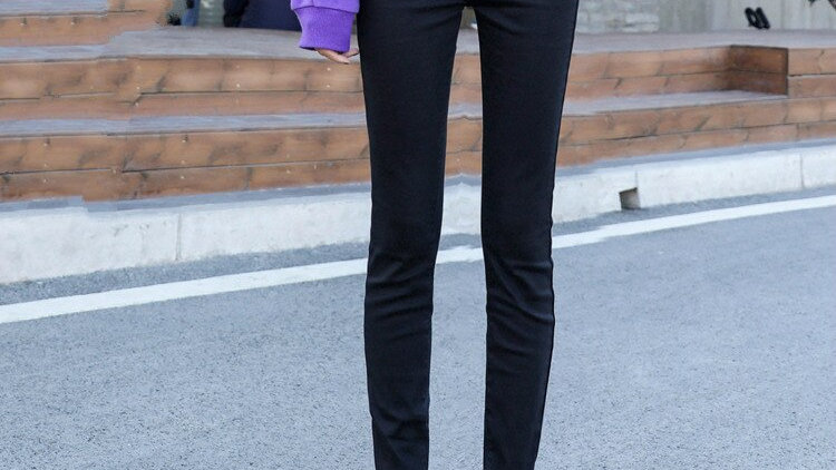 Long Pencil Denim Pants Length