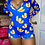 Thumbnail: Plus Size Cartoon Print Sexy Long Sleeve Bodysuit Stretch  One Piece Romper