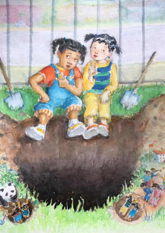 """Digging to China"""