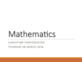Mathematics at Campus des Nations: Lunchtime 2018