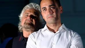 4: The comedian which founded the Five Star Movement, Beppe Grillo (Left) and the current leader Luigi Di Maio (Right)