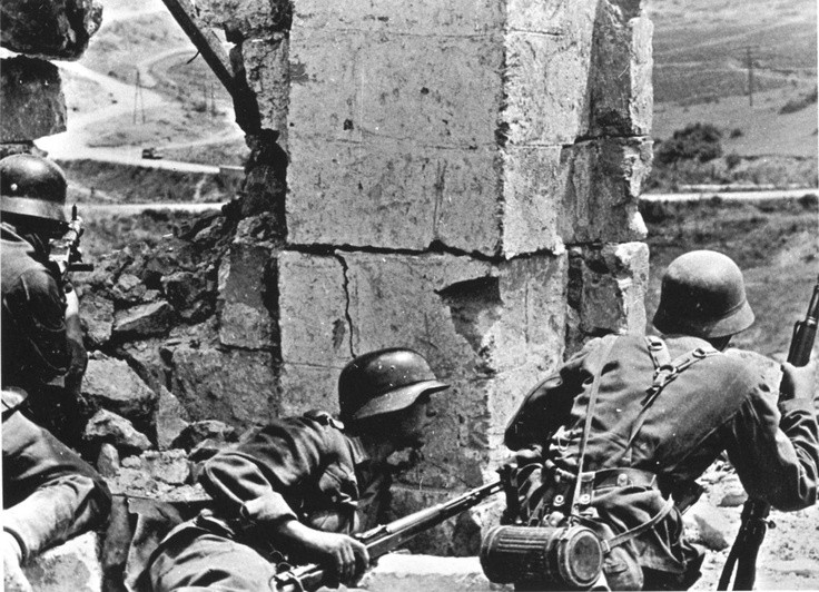 A Nazi attack in the city of Sevastopolin 1942 courtesy of the BBC