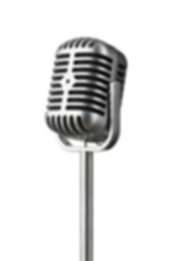 Vintage music microphone retro