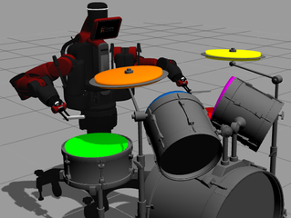 Multisensory Learning Framework for Robot Drumming