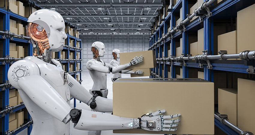 Robots in warehouses can navigate freely and deliver goods, nevertheless, no robotic system is yet capable of exploiting pushing operations for novel items in novel situations, such as inserting a box of varied produce onto an over-the-head store shelf.