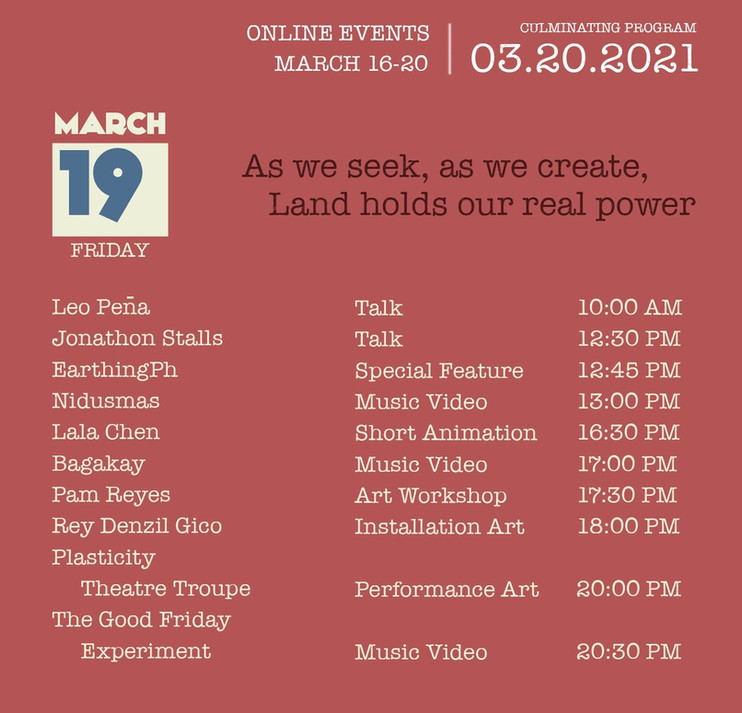 March 19 - Friday