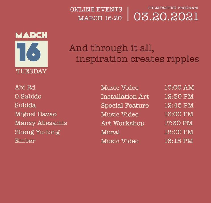 March 16 -  Tuesday